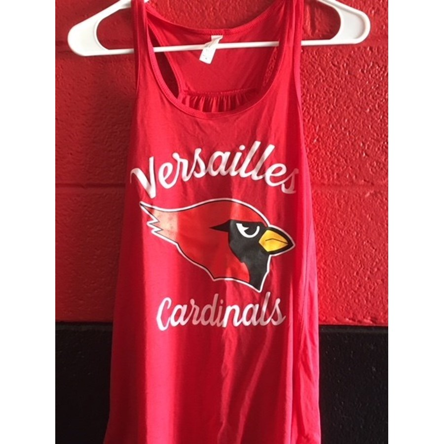 Ladies Versailles Racerback Tank Top - Red
