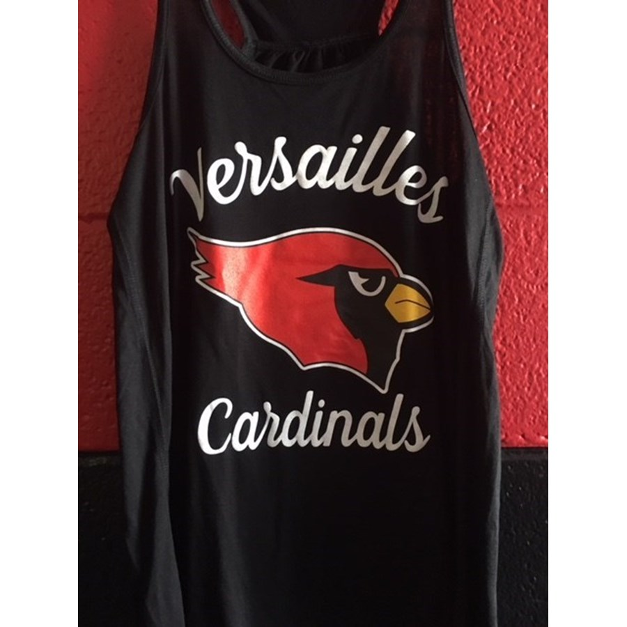 Ladies Versailles Racerback Tank Top - Black